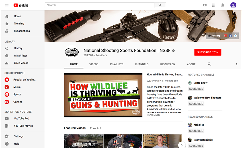 NSSF YouTube Channel