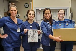 Health Care Workers Thank Federal Ammunition For Mask Donations - COVID-19